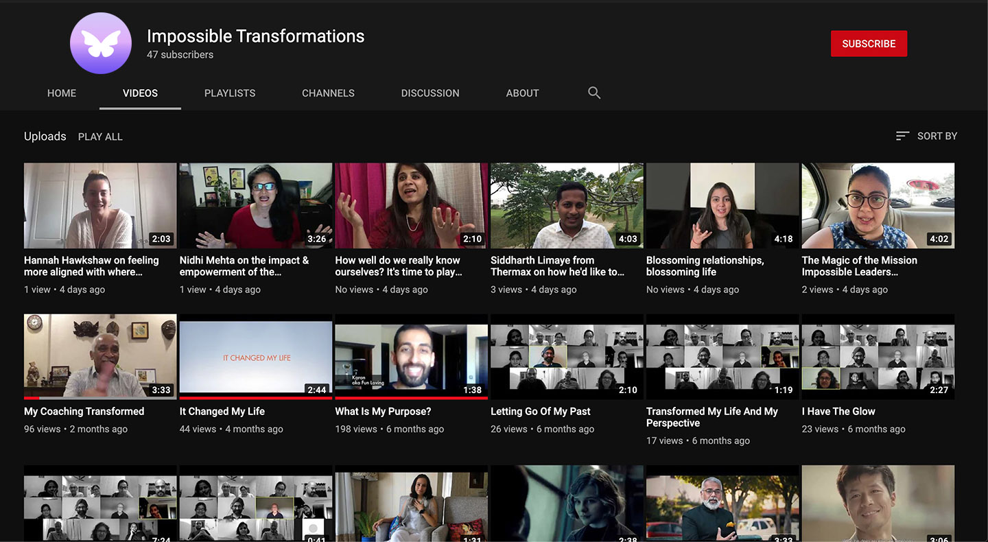 Impossible Transformations Youtube Page